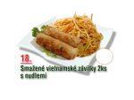 Smažené vietnamské závitky s nudlemi