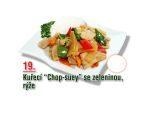 Kuřecí chop suey se zeleninou, rýže