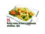 Kuřecí maso na kari s kokosovou omáčkou, rýže