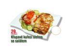 Křupavé kuřecí stehno se salátem