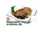 Křupavá kachna chop suey se zeleninou, rýže