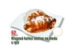 Křupavá kuřecí stehna na medu s rýží
