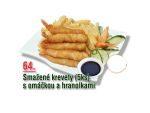 Smažné krevety s omáčkou a hranolkami