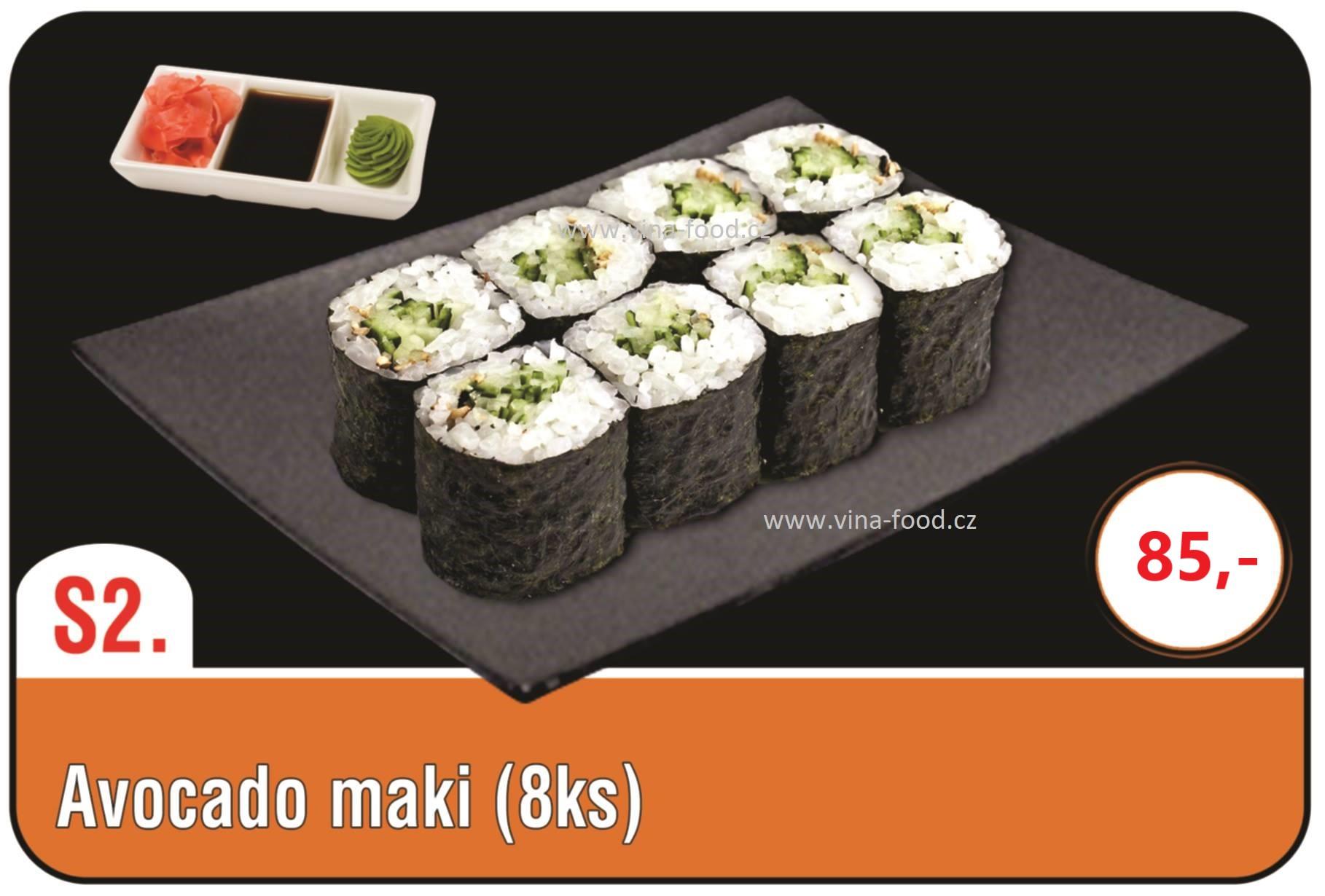 Sushi avocado maki 8ks