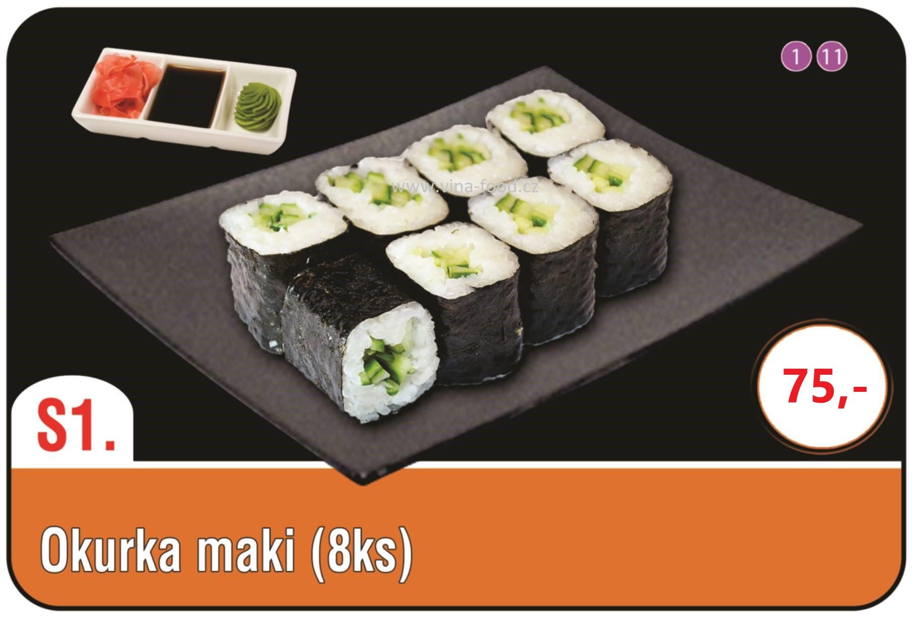 Sushi okurka maki 8ks