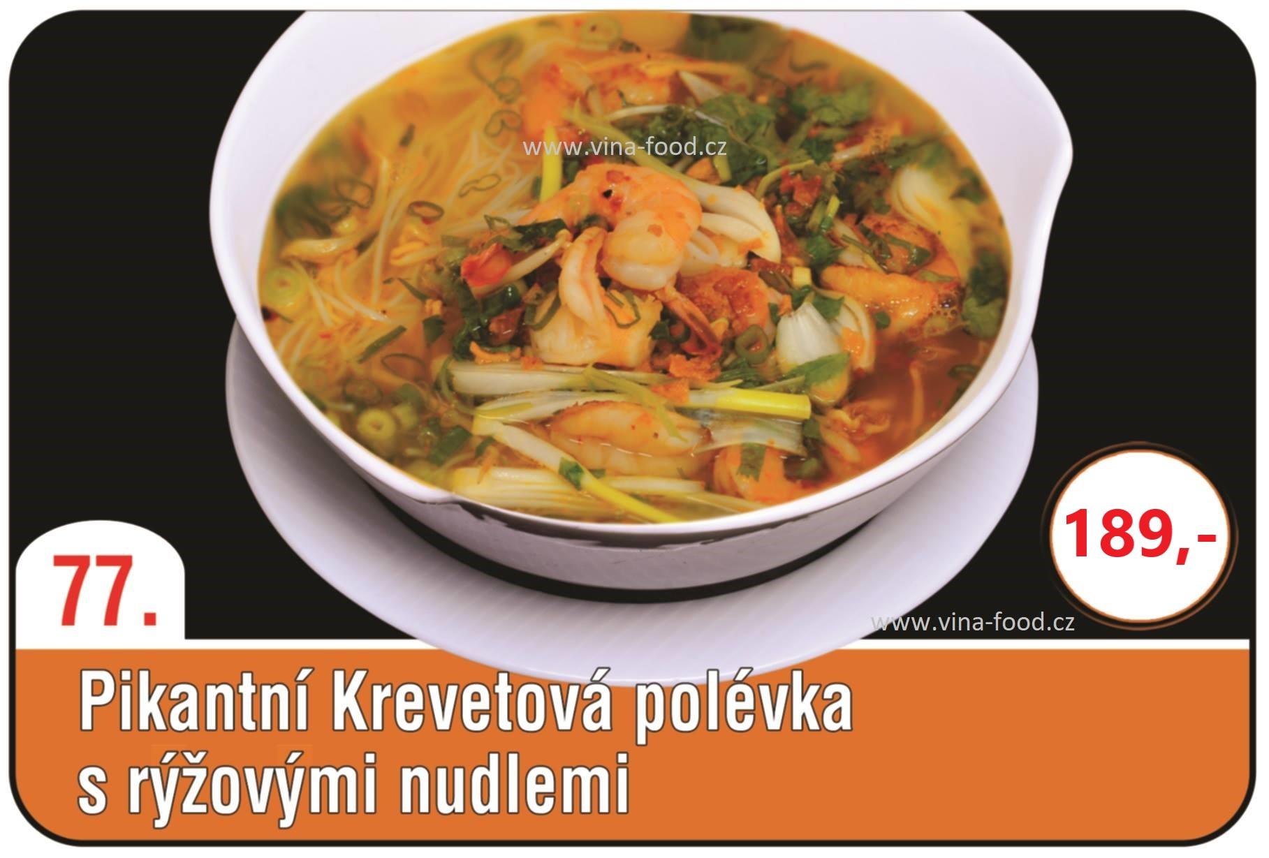 Pikantní Krevetová polévka s rýžovými nudlemi