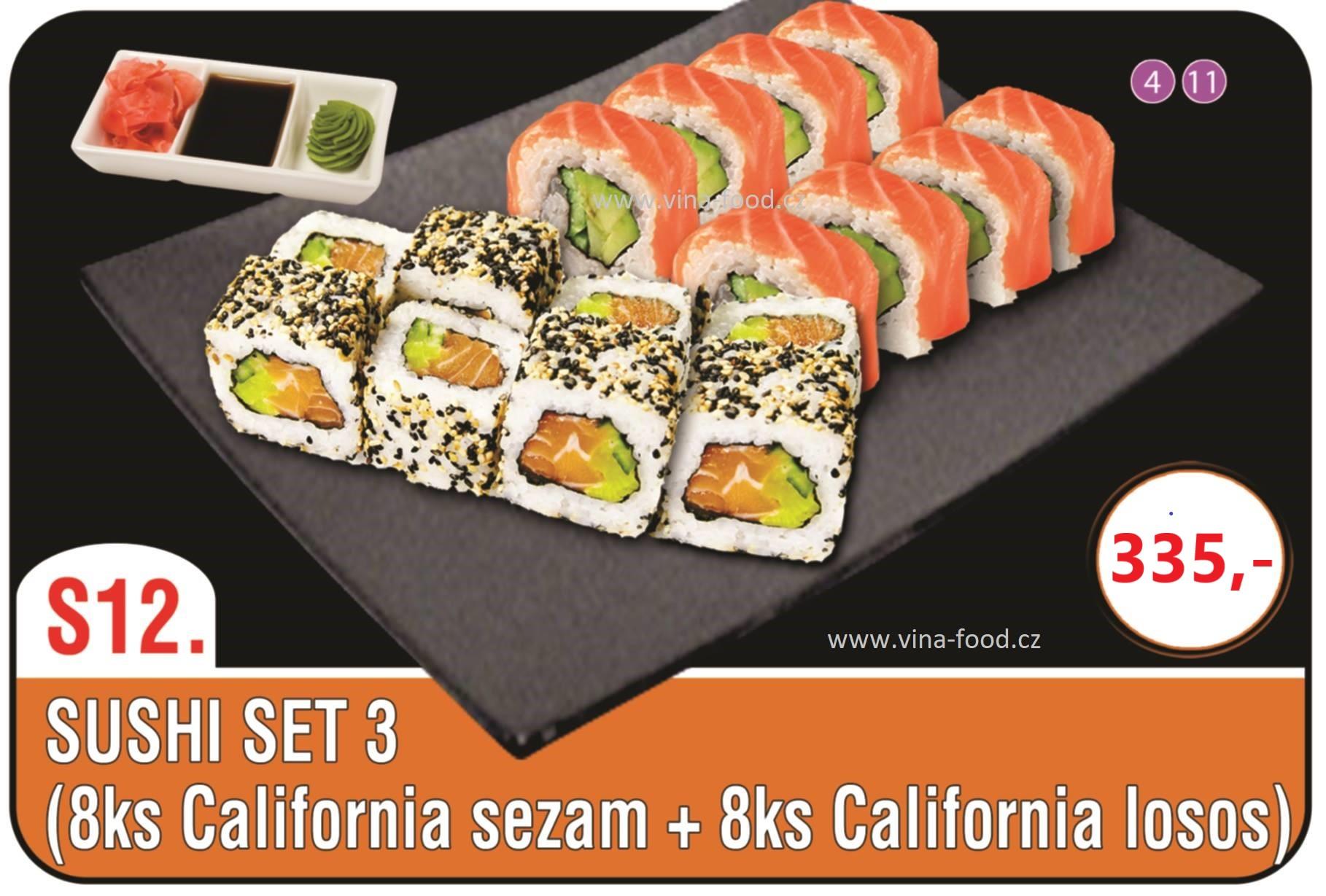 Sushi set 3 (8ks california sezam + 8ks california losos)