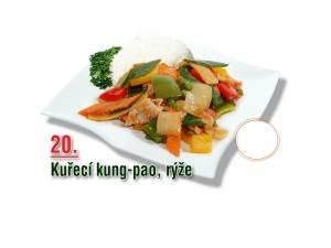 Kuřecí kung-pao, rýže