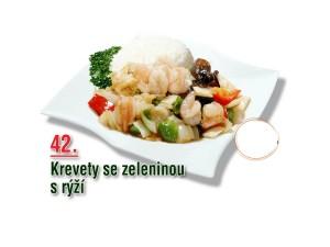 Krevety se zeleninou s rýží