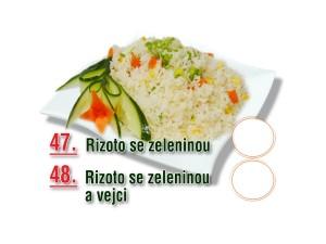 Rizoto se zeleninou a vejci