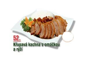 Křupavá kachna s omáčkou a rýží